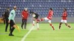 Jogo entre Santa Clara e Benfica é retomado esta segunda-feira