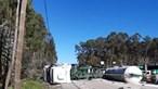 Despiste de camião faz um ferido no IC2 em Leiria e corta circulação nos dois sentidos