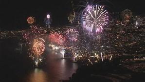 Madeira assinalou passagem de ano com oito minutos de fogo de artifício