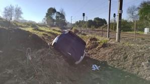 Condutor despista-se, em Espinho, devido à formação de gelo na estrada