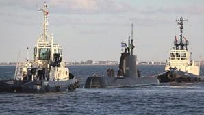 Trabalho de revisão de submarino derrapa três milhões de euros