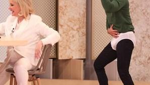 Cláudio Ramos cumpre promessa e dança em cuecas no programa das manhãs