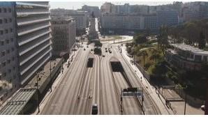 Lisboa, Braga e Portimão no primeiro domingo de confinamento geral. Veja as imagens de drone