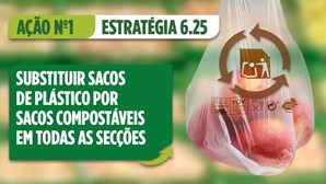 Mercadona elimina sacos de plástico de uso único em todas as lojas