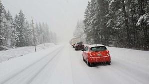 Queda de neve deixa dois distritos sob aviso amarelo