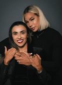 Marta, uma das melhores jogadoras da história, anuncia noivado com colega de equipa