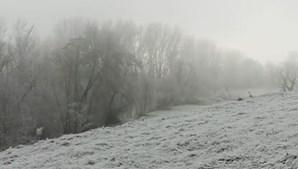 Chaves coberta de neve
