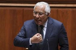 O primeiro-ministro, António Costa, durante o debate sobre política geral, esta tarde na Assembleia da República, em Lisboa, 19 de janeiro de 2021