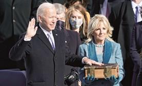 Joe Biden presta juramento como 46.º presidente dos Estados Unidos da América