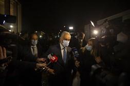Marcelo Rebelo de Sousa, vencedor das eleições presidenciais fala à comunicação social, à saída da sua sede de campanha