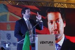André Ventura na Sede de Campanha