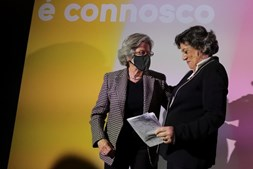 Ana Gomes na sede de campanha