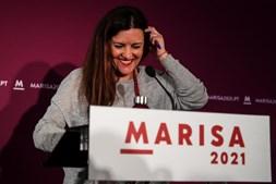 Marisa Matias após conhecer os resultados em Coimbra