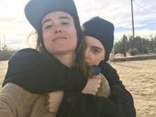 Elliot Page com Emma Portner