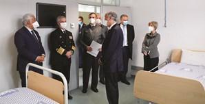 Marcelo e Costa visitaram o Hospital das Forças Armadas, em Lisboa