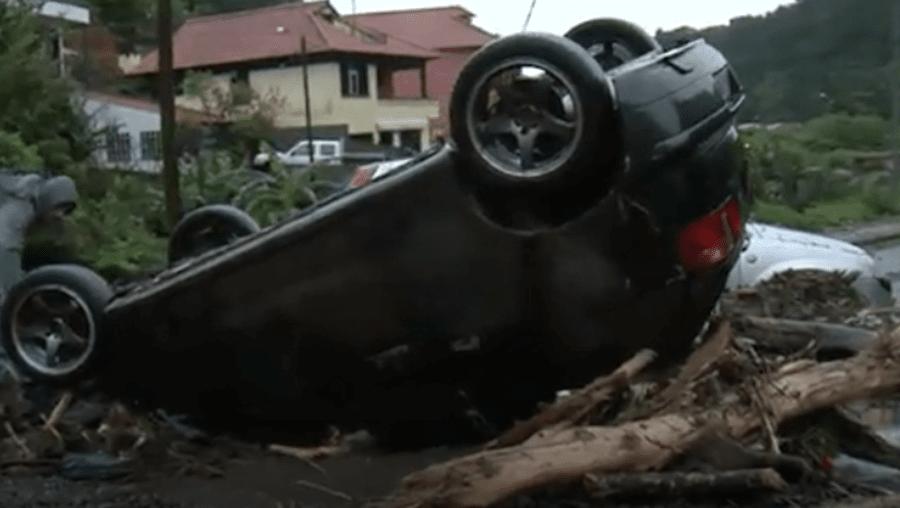 Mau tempo provoca destruição na Madeira
