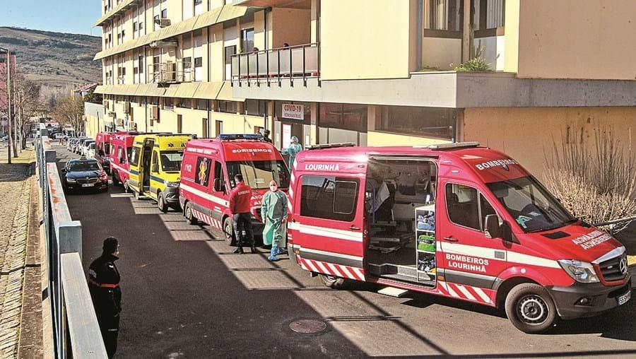 No hospital de Torres Vedras a pressão tem aumentado