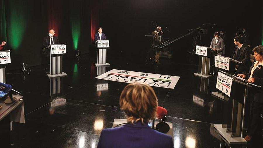 Foram seis os candidatos que participaram no debate das rádios