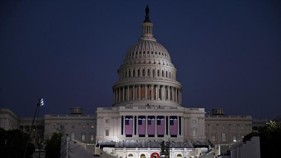 O Capitólio em Washington, nos EUA, é o palco para a tomada de posse do presidente eleito