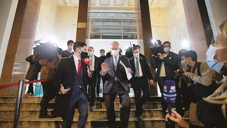 Marcelo Rebelo de Sousa, à saída da Faculdade de Direito de Lisboa onde pronunciou o seu discurso de vitória nas Presidenciais