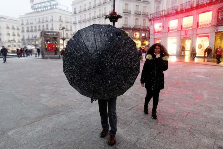 Tempestade Filomena em Madrid
