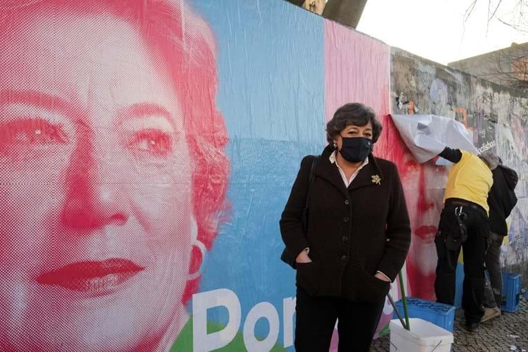 Ana Gomes em campanha em Lisboa