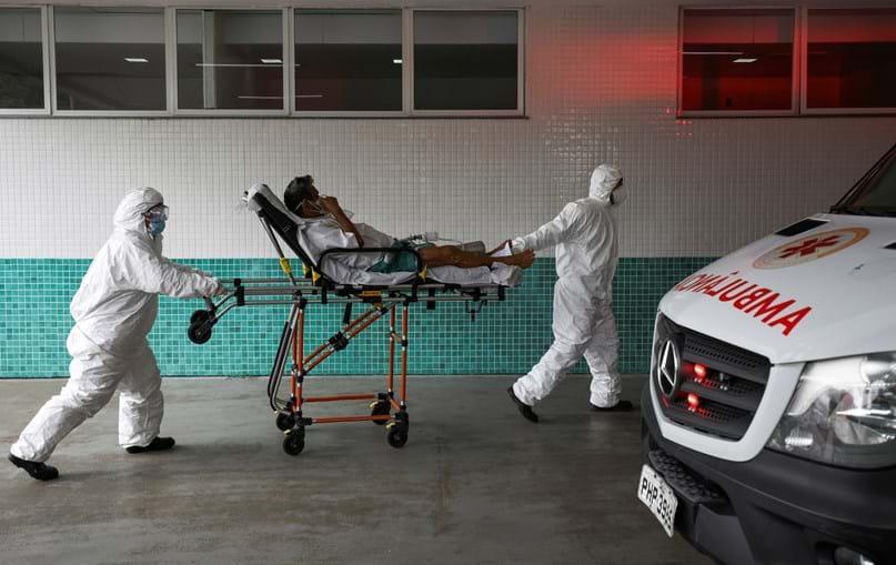 Doente Covid-19 em Manaus, no Brasil