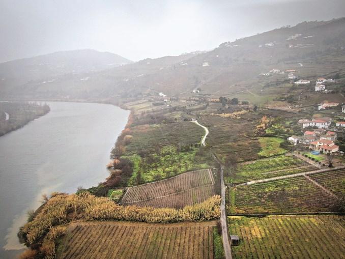 Local onde está prevista a construção de um grande hotel, junto ao rio Douro, em Rede, Mesão Frio