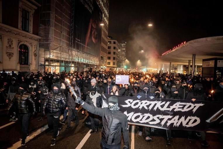 Novos incidentes na Dinamarca em manifestação contra restrições