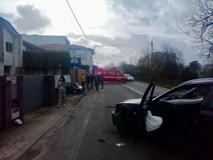 Motociclista ferido em despiste aparatoso em Famalicão