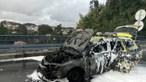 VMER do INEM de Gaia incendeia-se na A32 em Oliveira de Azeméis. Veja as imagens