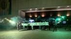 Sporting a caminho do Porto para clássico no Dragão com fogo de artifício antes da festa. Veja as imagens