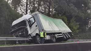 Acidentes em série provocam caos na A29 em Esmoriz. Veja as imagens