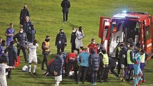 Choque brutal entre jogadores deixa Jamor em lágrimas