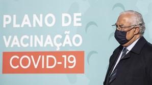 António Costa recebeu hoje a 1.ª dose da vacina da Covid-19 no Hospital das Forças Armadas
