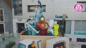 Monumento do Carnaval em Torres Vedras é homenagem aos 'super heróis' da pandemia