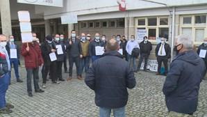 Motoristas de Viseu protestam por falta de pagamento de salários