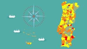 Já só há 15 concelhos em risco extremo devido à Covid-19. Há uma semana eram 119. Veja como está o seu