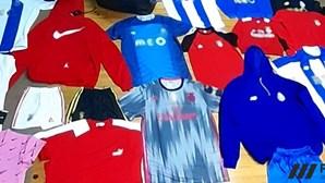 Comerciantes detidos por violar confinamento ao manter loja aberta, no Porto, com quase dois mil artigos contrafeitos