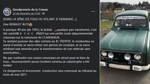 'Apanhado' a 141 km/hora… ao volante de um Renault 4L