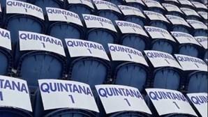 Claques do FC Porto homenageiam Quintana no pavilhão e no estádio