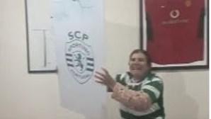 Dolores Aveiro festeja empate do Sporting no Dragão de forma efusiva