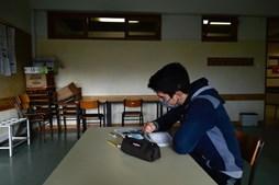 Leandro tem 13 anos e é aluno do oitavo ano no Agrupamento de Escolas de Santa Cruz da Trapa