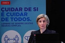 Marta Temido na reunião com especialistas