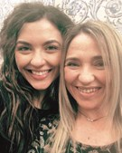 Sara Barradas com a mãe, Felisbela Dias