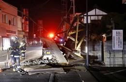 Portão destruído pelo sismo