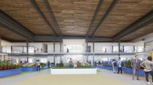 O novo mercado terá 56 bancas interiores