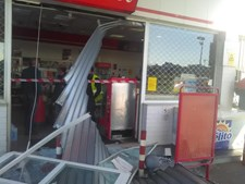 Bomba de combustível da Cepsa assaltada e vandalizada em Vila do Conde