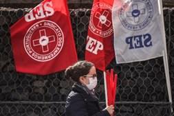 Protesto enfermeiros