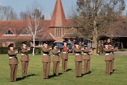 Membros das Forças Armadas marcaram presença no funeral